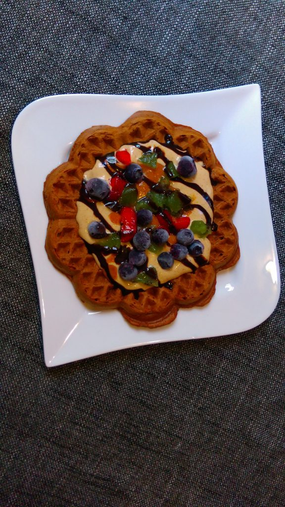 Wholegrain Oats and Banana Waffles