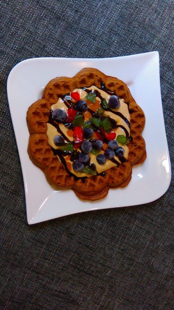 Wholegrain Oats and Banana Waffles